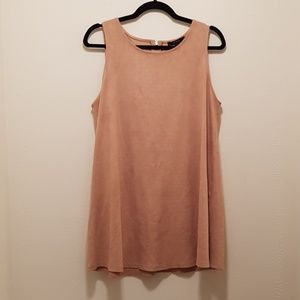 NWOT Faux Suade Tan Forever 21 Mini Dress